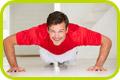 homem praticando exercício físico