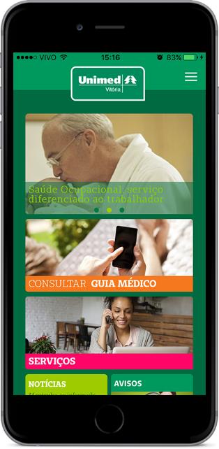 Unimed Vitória lança aplicativo para clientes - Notícias - Unimed ... 5d17d0d1ff4d3