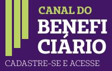 Ícone com texto: Cadastre-se e tenha acesso ao Canal do Beneficiário
