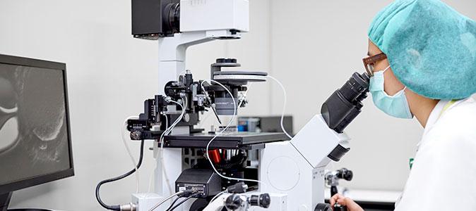 médica realizando inseminação artificial