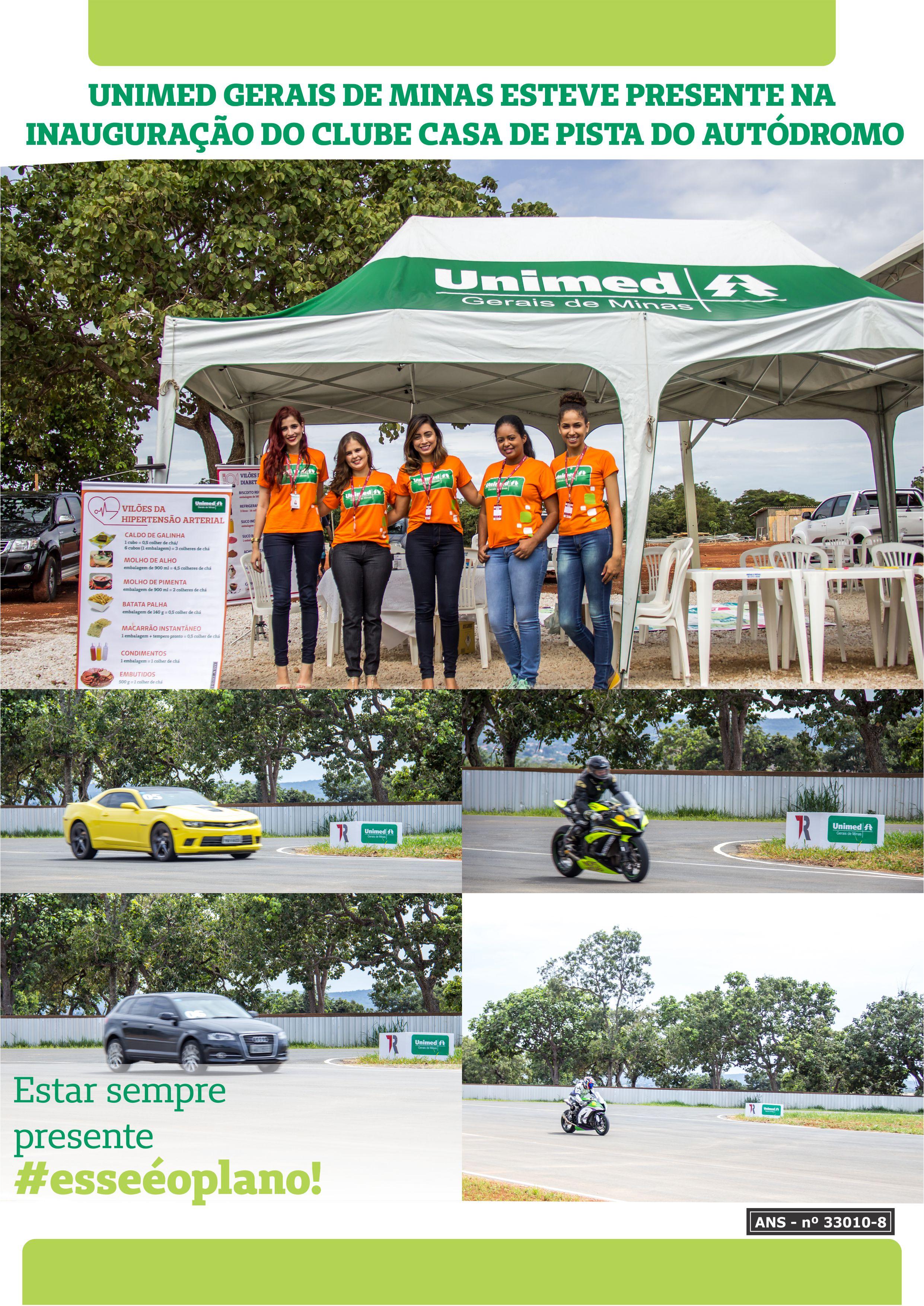 Circuito De Cristais : Unimed marca presença na inauguração do clube casa de pista do
